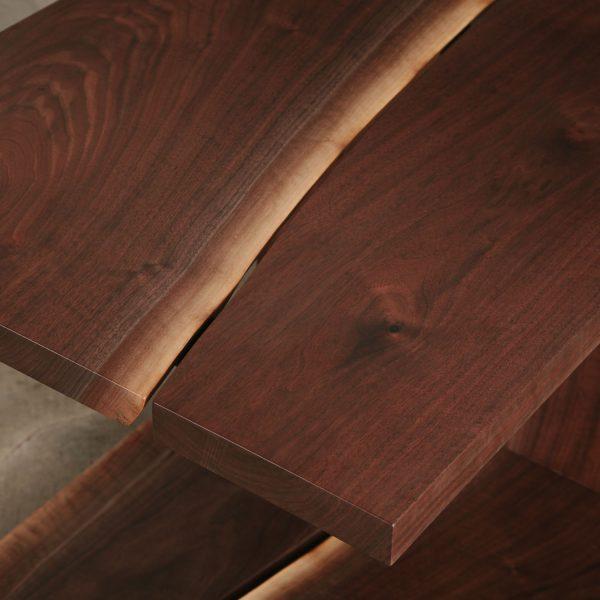 Custom live edge walnut wood grain