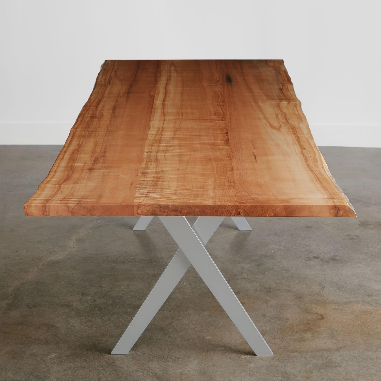 Modern live edge wood dining room table