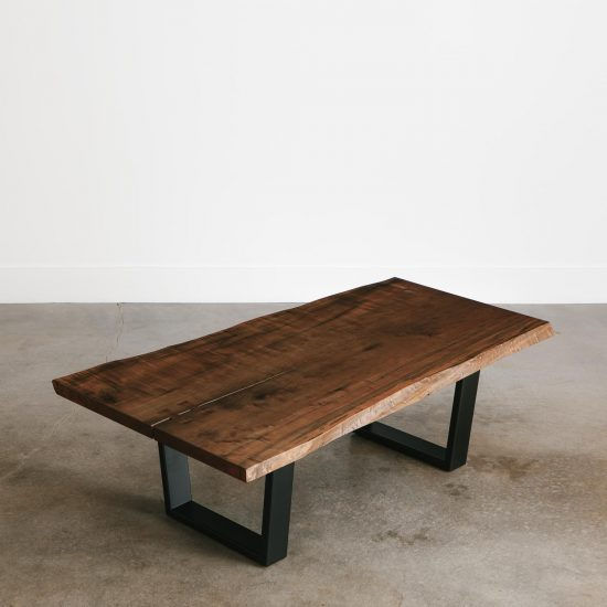 Modern live edge ebonized maple coffee table trendy