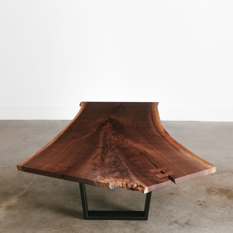 Live Edge Coffee Table Base: Walnut Coffee Table - Elko Hardwoods
