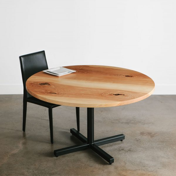 Round live edge cafe table office break room