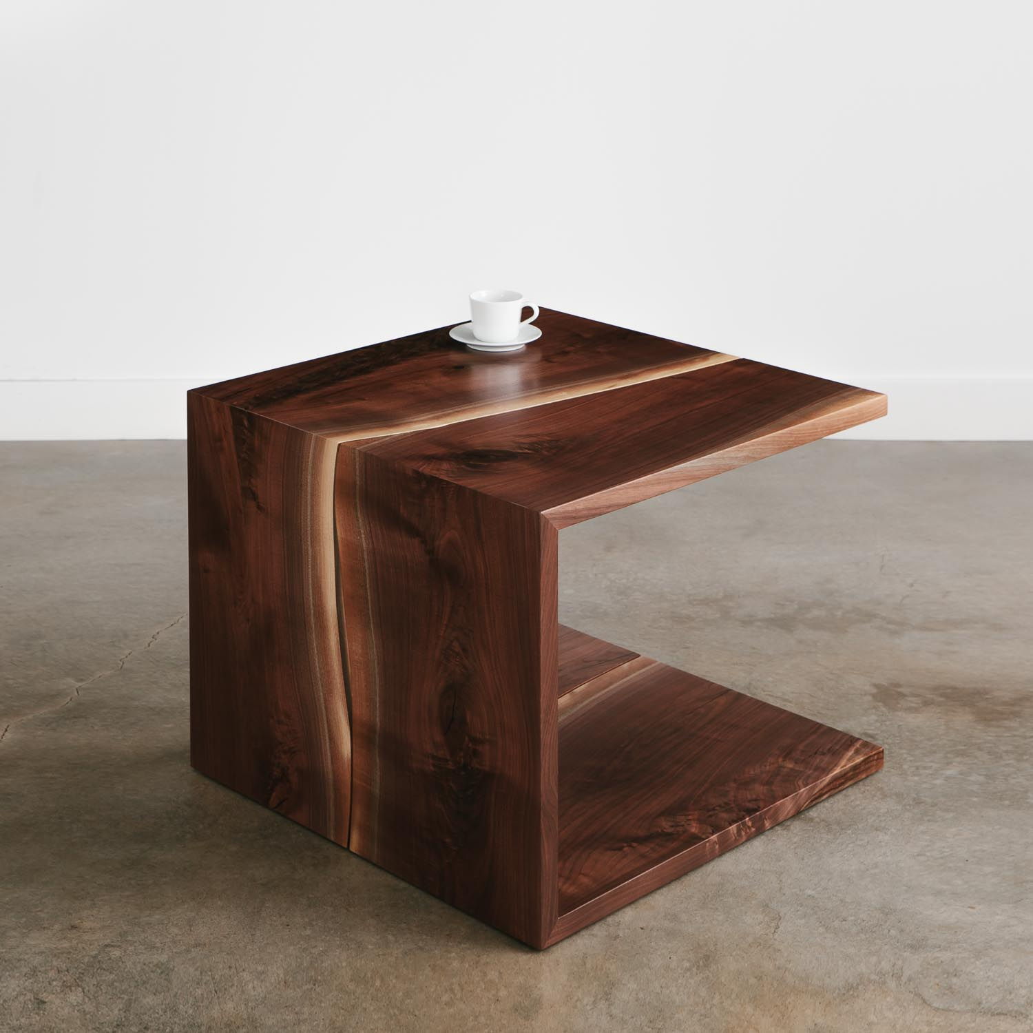 Attrayant Walnut Waterfall Live Edge Coffee Table