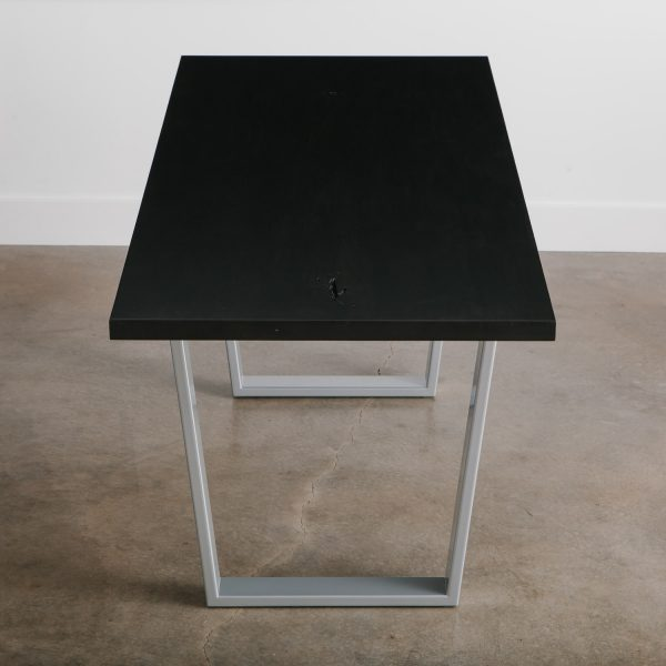 Ebonized ash dining room table