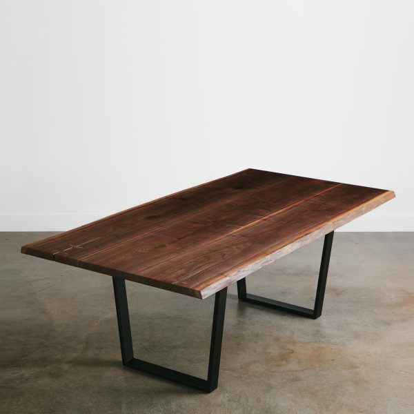 Walnut live edge slab dining room table