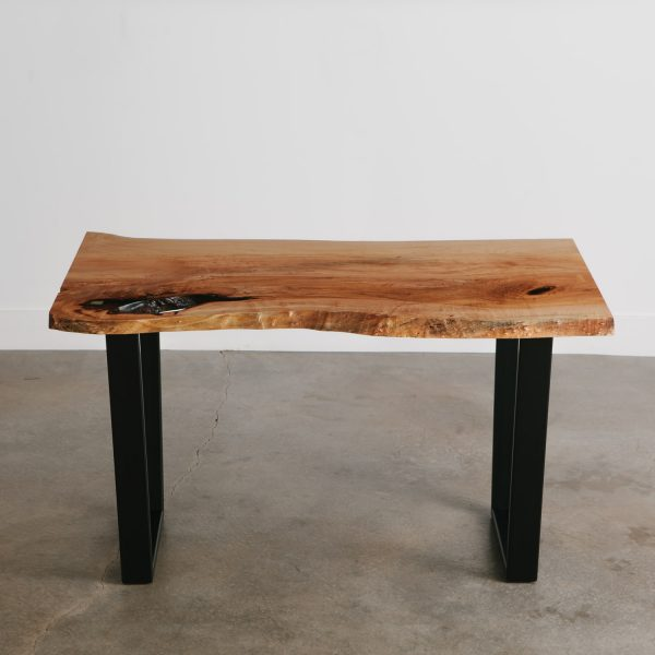 Modern live edge wood desk