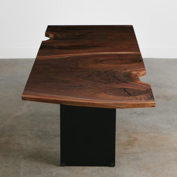 Luxury modern walnut tree dining room table