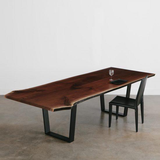 Live edge walnut custom dining room table