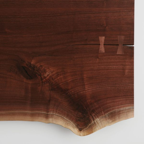 Live edge luxury walnut table with butterfly joints