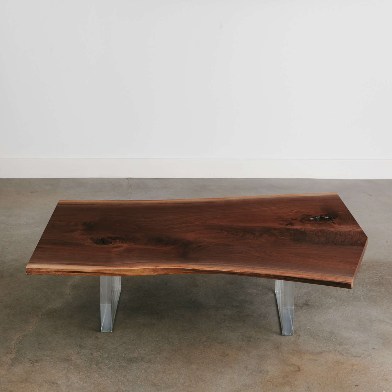 Walnut Coffee Table Elko Hardwoods Modern Live Edge Furniture