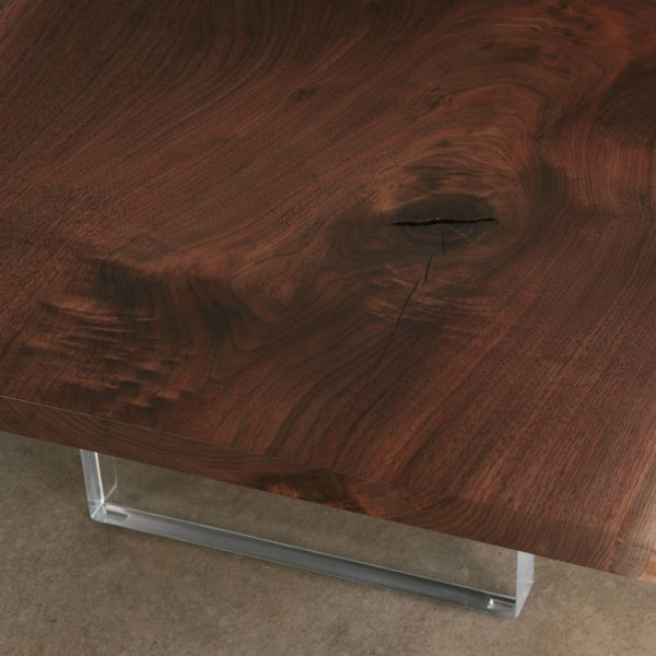 Walnut slab lucite Elko Hardwoods