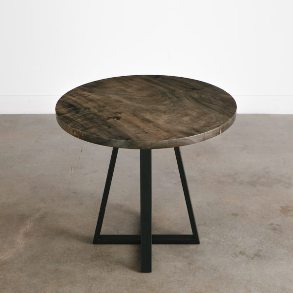 Modern live edge small round table