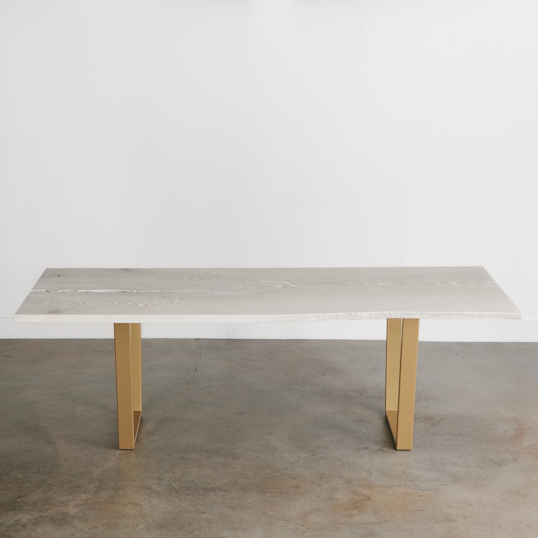 White Wash Wood Dining Table: Whitewashed Ash Dining Table - Elko Hardwoods