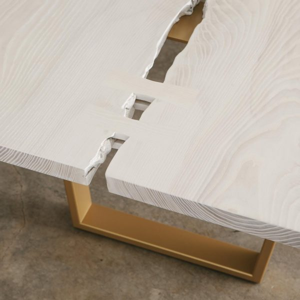 Modern luxury white live edge table