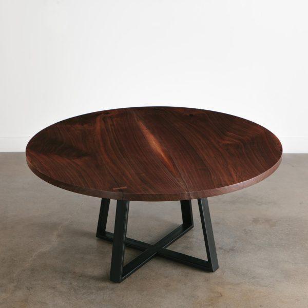 Luxury walnut live edge dining room table