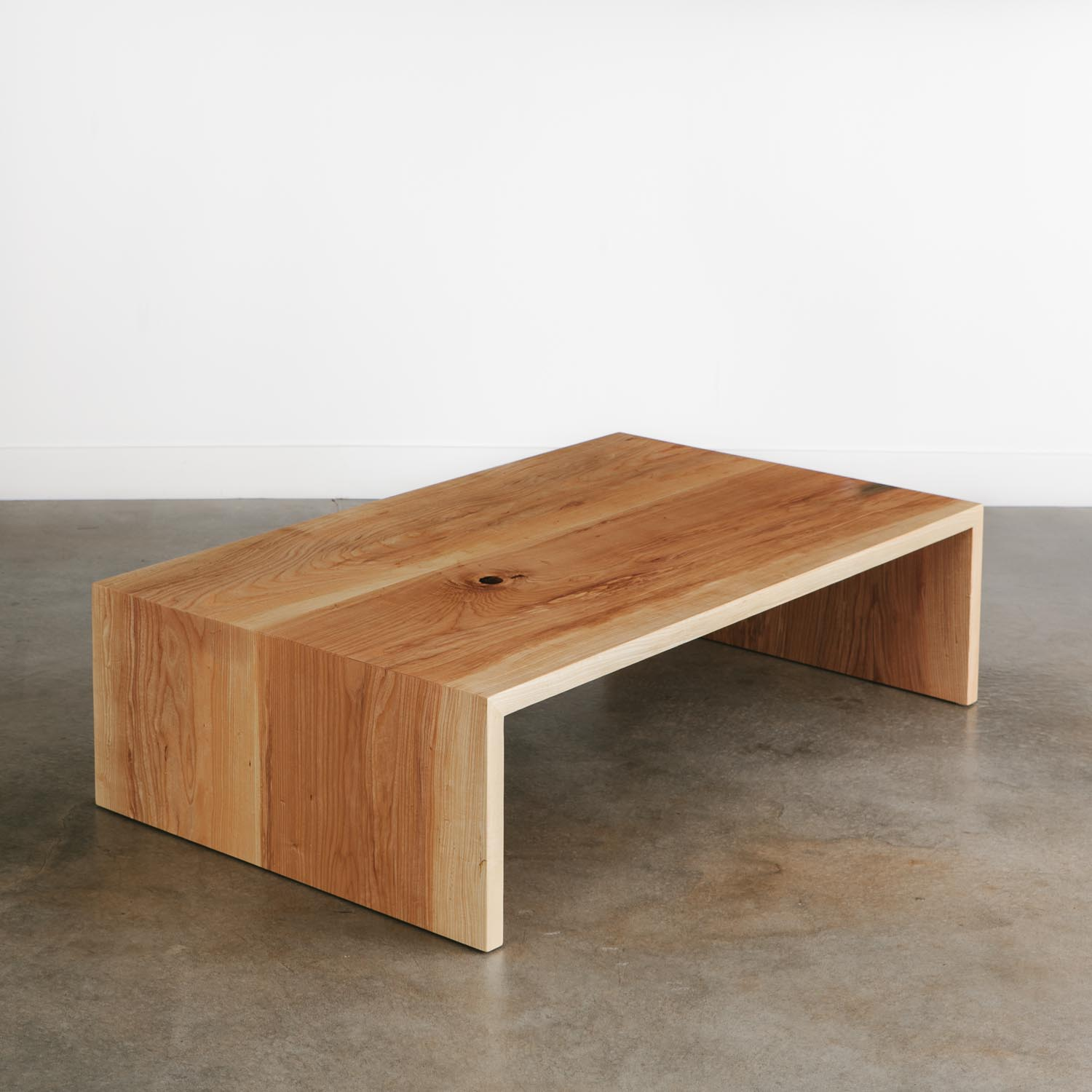 Modern Wood Coffee Table: Ash Coffee Table - Elko Hardwoods