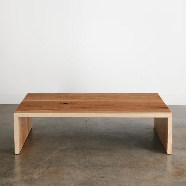 Sleek custom wood coffee table