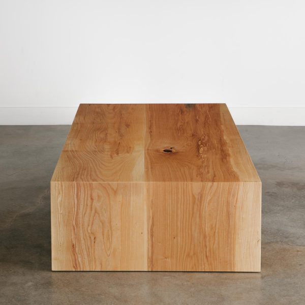 Live edge slab waterfall coffee table