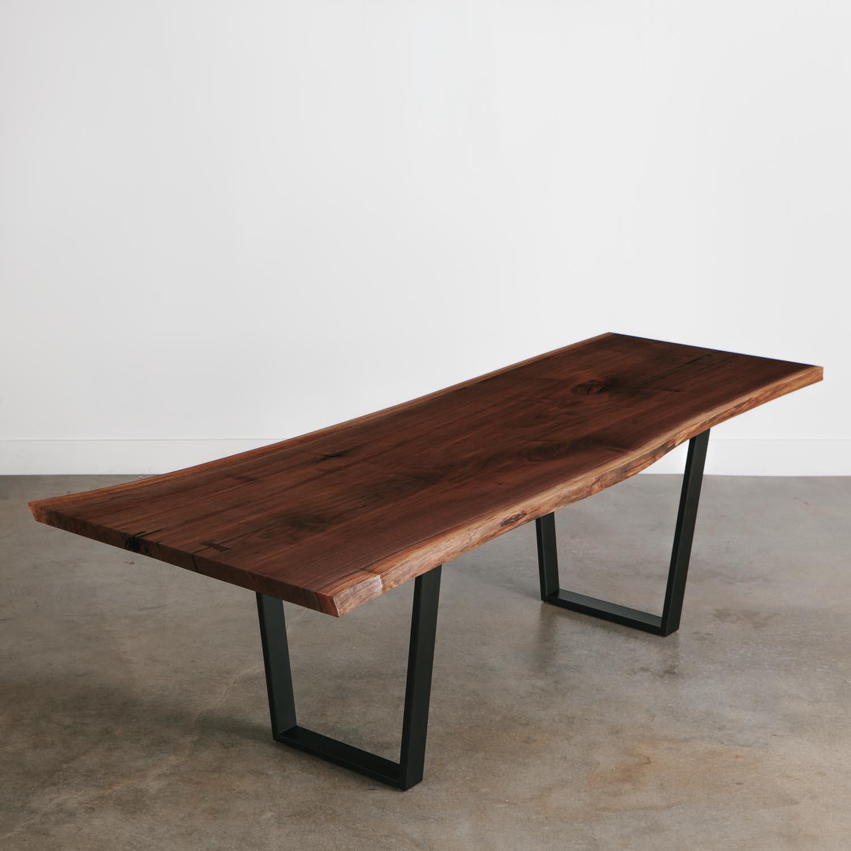 Walnut Dining Table Elko Hardwoods Modern Live Edge Furniture