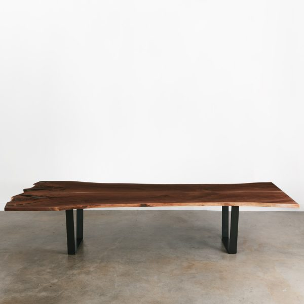 Walnut slab contemporary conference table
