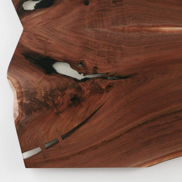 Walnut slab with hand cut butterfly joint Elko Hardwoods