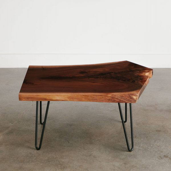 Luxury live edge coffee table with handmade hairpin legs