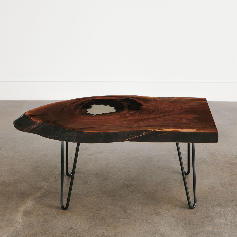 Walnut Coffee Table Hairpin Legs