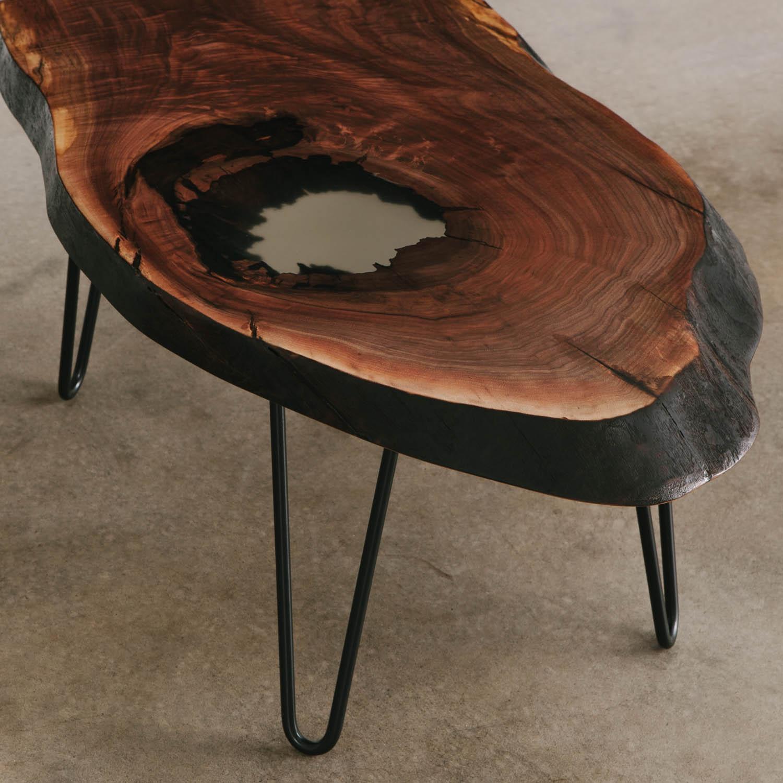 Walnut Coffee Table Elko Hardwoods Modern Live Edge
