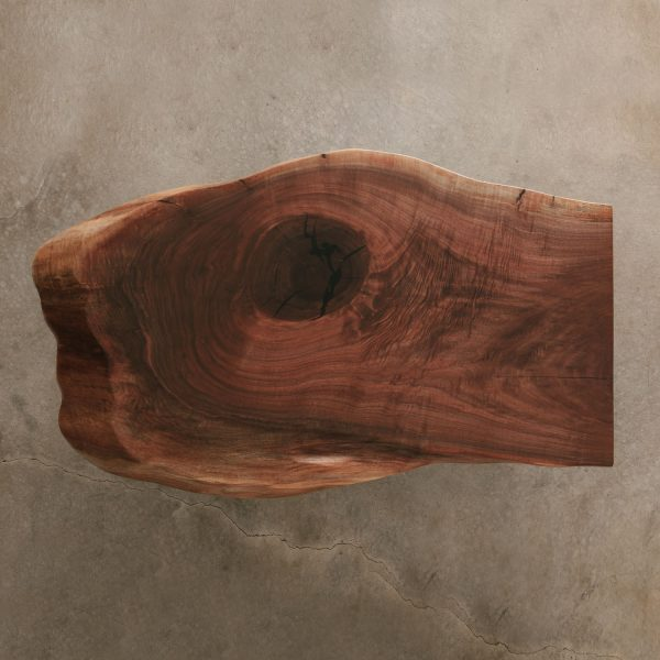 Figured live edge walnut slab Elko Hardwoods