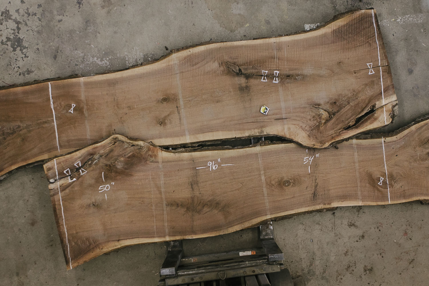 Raw live edge walnut slabs for dining room tables