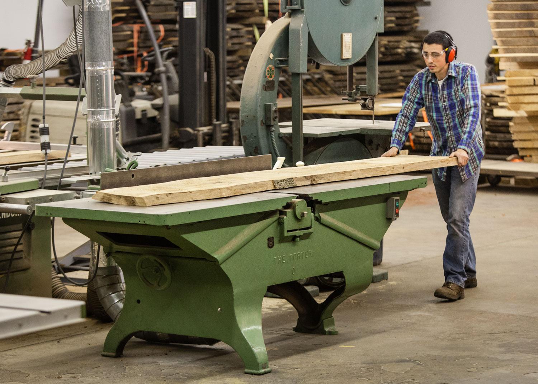 Woodworking shop jointing slab Elko Hardwoods