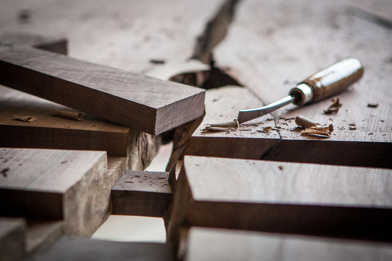 Woodworking handmade butterfly joint Elko Hardwoods