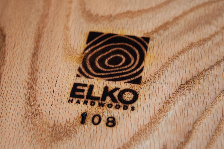 Elko Hardwoods brand logo wood