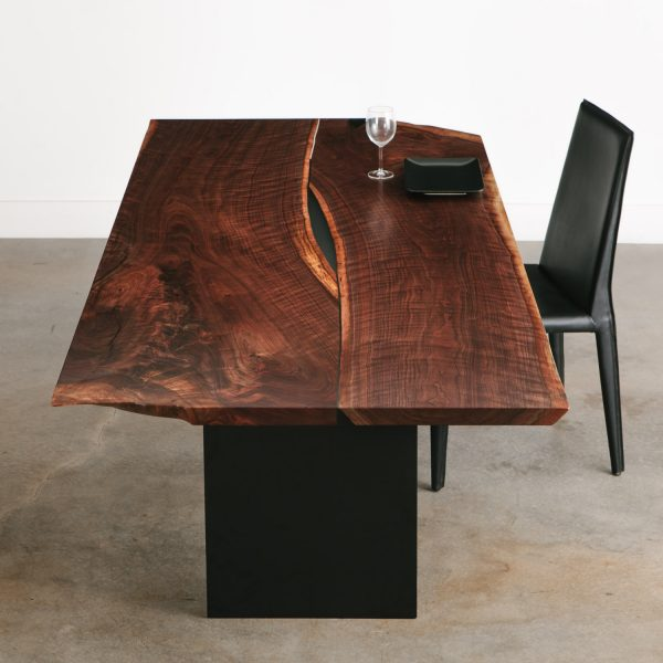 figured-live-edge-walnut-dining-table