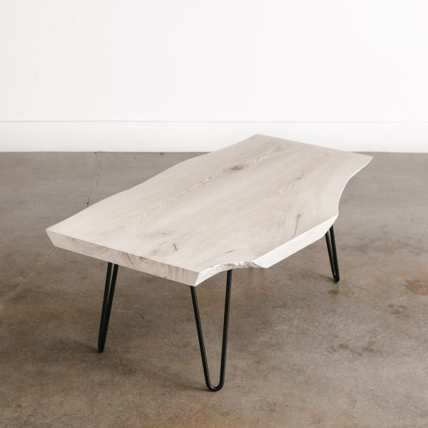 Mid century modern white coffee table