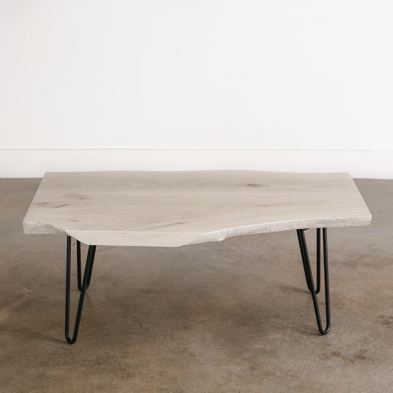 White Wash Wood Dining Table: Whitewashed Ash Coffee Table - Elko Hardwoods