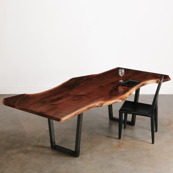Luxury handmade live edge walnut dining room table