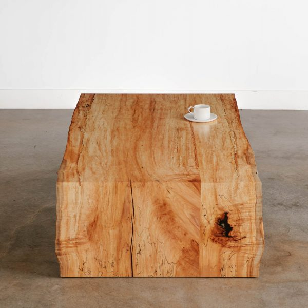 Modern live edge waterfall coffee table