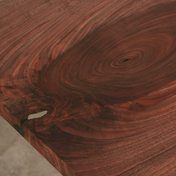 Walnut slab wood grain with matte finish