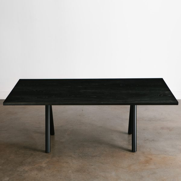 Blackened ash salvaged dining room table Chicago