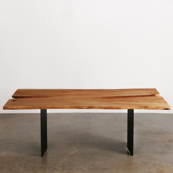 Boho chic custom slab live edge table at Elko Hardwoods furniture store