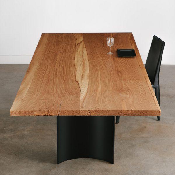 Custom built live edge oak dining table