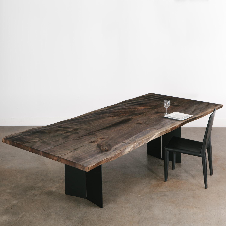 Ebonized Maple Dining Table Elko Hardwoods Modern Live