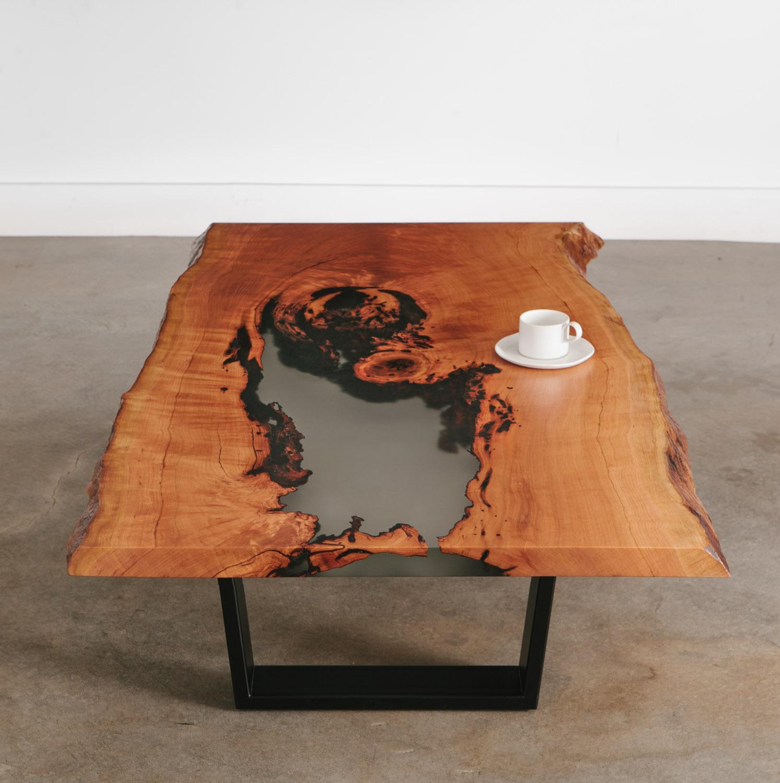 Cherry Coffee Table Elko Hardwoods Modern Live Edge