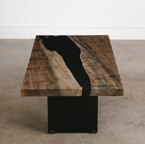 Modern grey handmade coffee table