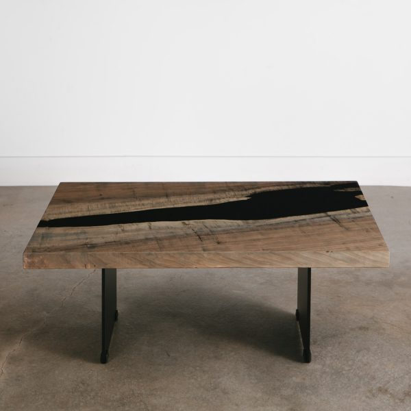 Contemporary grey wood coffee table