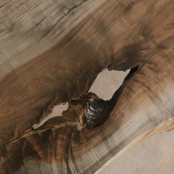 Ebonized maple wood grain for trendy white grey decor in luxury home
