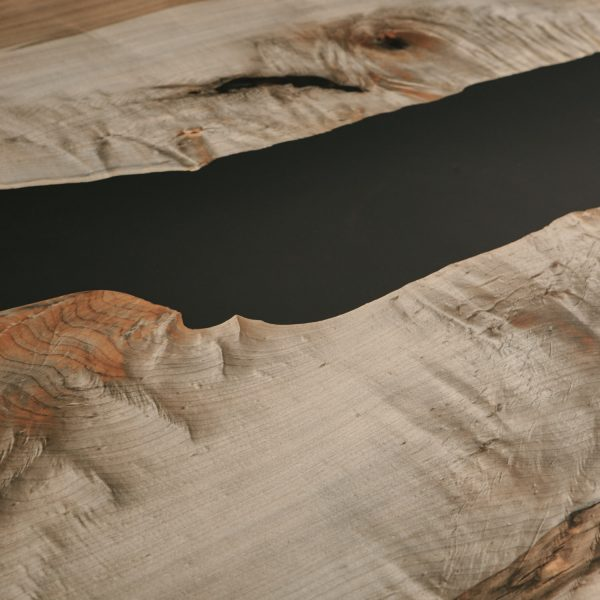 Ebonized maple with black resin detail at Elko Hardwoods