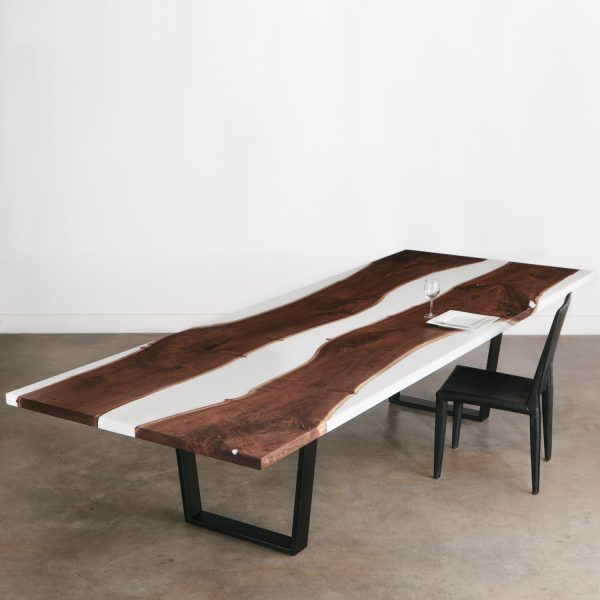 Live edge walnut conference table for corporate conference rooms Chicago
