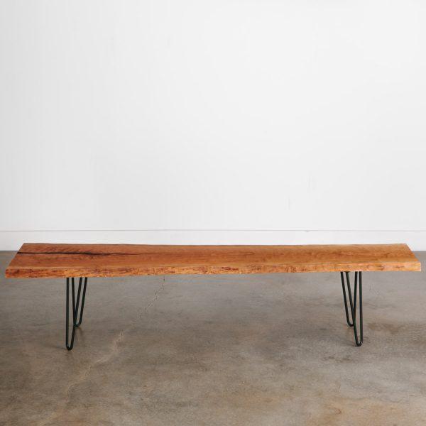 live-edge-bench-mid-century-modern