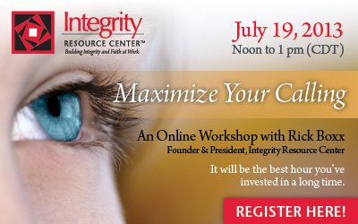 Maximize Your Calling Online Workshop with Rick Boxx
